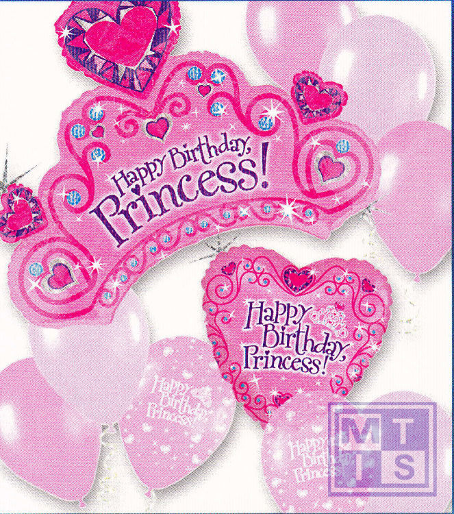 Ballonnenpakket: Happy Birthday Princess
