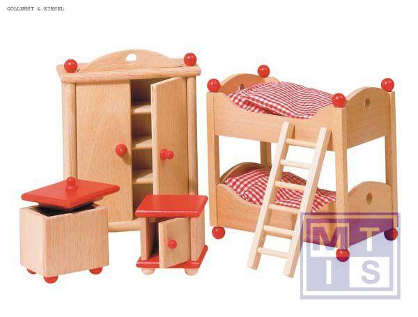 poppenhuis meubels met stapelbed