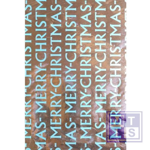 Kerstpapier 89242/13 Merry X-mas Turquoise