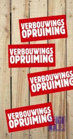 Poster: Verbouwingsopruiming (per 1st.)