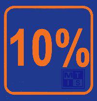 Biljet 10 %