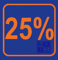 Biljet 25 %