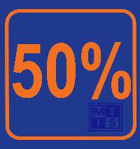 Biljet 50 %