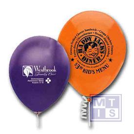 Zeefdruk bedrukken van ballonnen: 1zijde/1kleur 31.700st (per 100st verpakt)