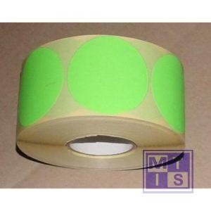 Etiket 50 mm rond fluor groen 1000/rol