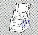 Folderhouder 1/3 deel van A4 staand 3-vakken (per 1st.)
