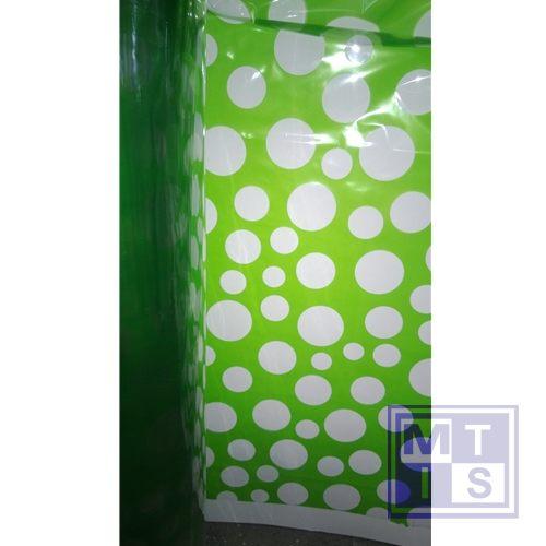 Geschenkfolie, stippen groen