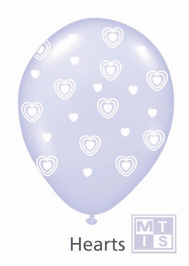 Bedrukte ballon: Hearts