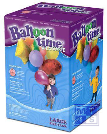 Helium Ballongas tank 50 incl. 50 ballonnen en lint
