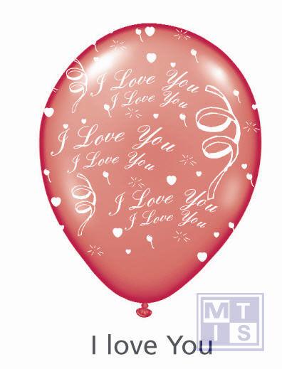 Bedrukte ballon: I love you