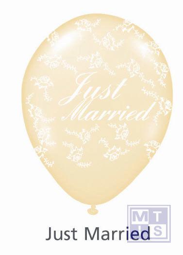 Bedrukte ballon: Just Married