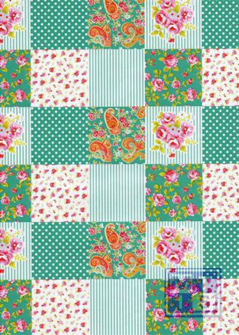 Dessin K601124-1 Patchwork Seagreen