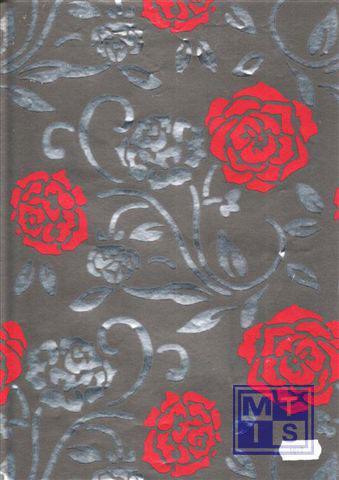Dessin K801017-11 Flower Black/Red
