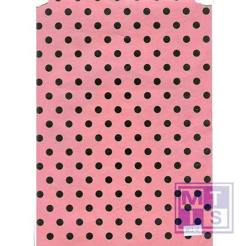 Dessin K80913-46 Stippen roze, 50cm breed