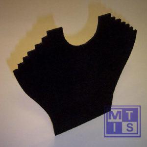 Kettingpresentatie zwart fluweel (1 st.)