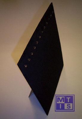 Kettingpresentatie zwart fluweel 30x39(1 st.)