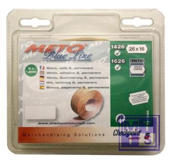 Etiket BlueLine 2-liner: Fluor oranje, Standaard