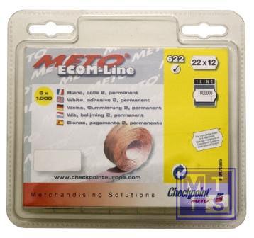Etiket 22x12mm 1-liner: Fluor geel, Standaard