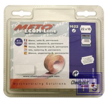 Etiket 22x16 Meto / Tovel: Fluor oranje, Standaard