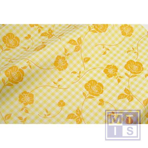 Bloemenzijde Landlust recyclingpapier geel - oranje 56981