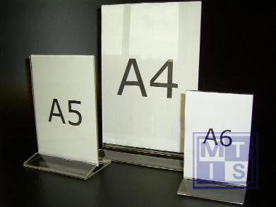Acryl Menukaartstandaard  A6 (per 1st.)