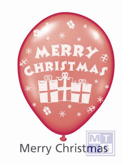 Bedrukte ballon: Merry Christmas