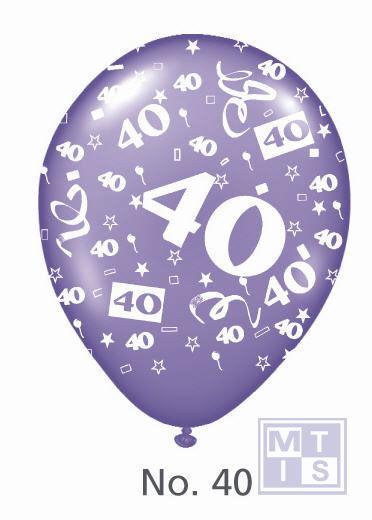Bedrukte ballon: 40