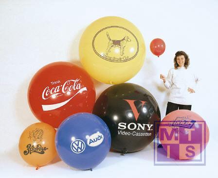 R250 Bedrukte reuzenballon: 1 kleur / 2 zijden