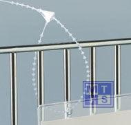 Veiligheidssluiting met bolletjes 140 mm (per 1.000st.)