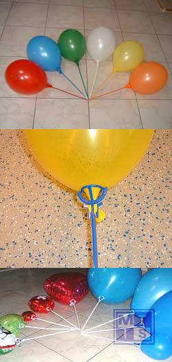 Ballonstaafjes EENDELIG plastic: Oranje (per  100st.)