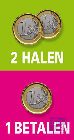 Poster: Euro; 2 halen 1 betalen (per 1st.)