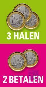 Poster: Euro; 3 halen 2 betalen (per 1st.)
