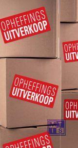 Poster: Opheffingsuitverkoop (per 1st.)