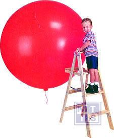R350 Bedrukte reuzenballon: 1 kleur, 120cm doorsnede