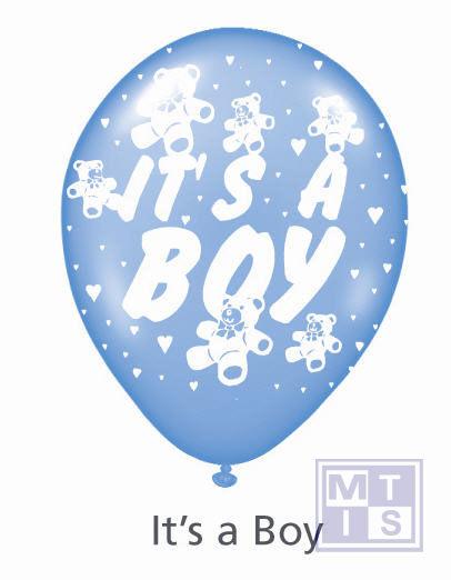 Bedrukte ballon: it's a boy