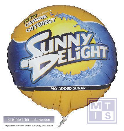 Folieballon ROND Doorsnede 45cm incl. helium vulling, 200st