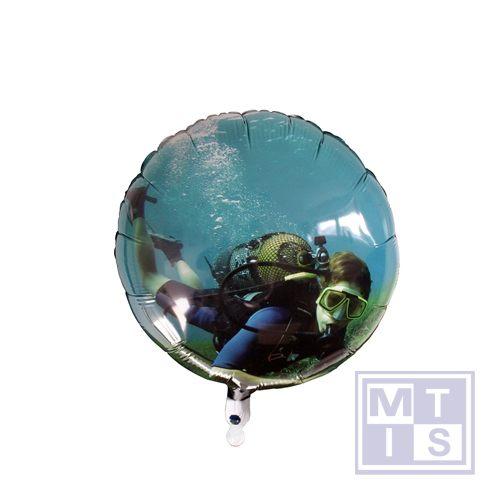 Folieballon ROND, digitaal bedrukt