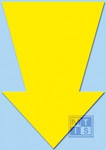 Pijl Fluor 22 cm Geel (per 50st.)
