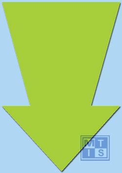 Pijl Fluor 22 cm Groen (per 50st.)