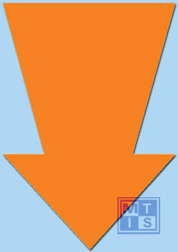 Pijl Fluor 32 cm Oranje (per 10st.)
