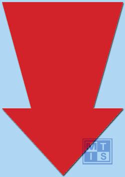 Pijl Fluor 22 cm Rood (per 50st.)