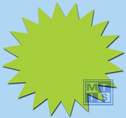 Sterretjes Fluor 10 cm Groen   (per 50st.)