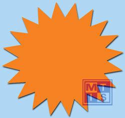 Sterretjes Fluor 10 cm Oranje (per 50st.)