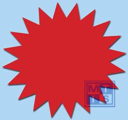 Sterretjes Fluor 10 cm Rood   (per 50 st.)