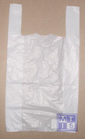 Draagtas; Plastic, Model Hemd; Formaat 30/20x60cm