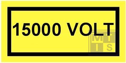15000 volt vinyl 100x50mm