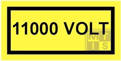 11000 volt vinyl 100x50mm