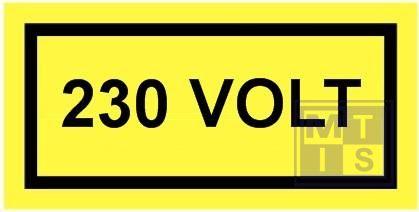 230 volt vinyl 100x50mm