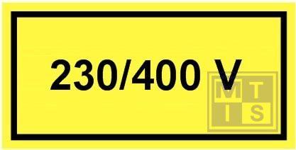 230/400 volt UV-LINE 100x50mm
