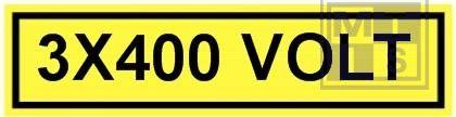 3x400 volt vinyl 60x15mm